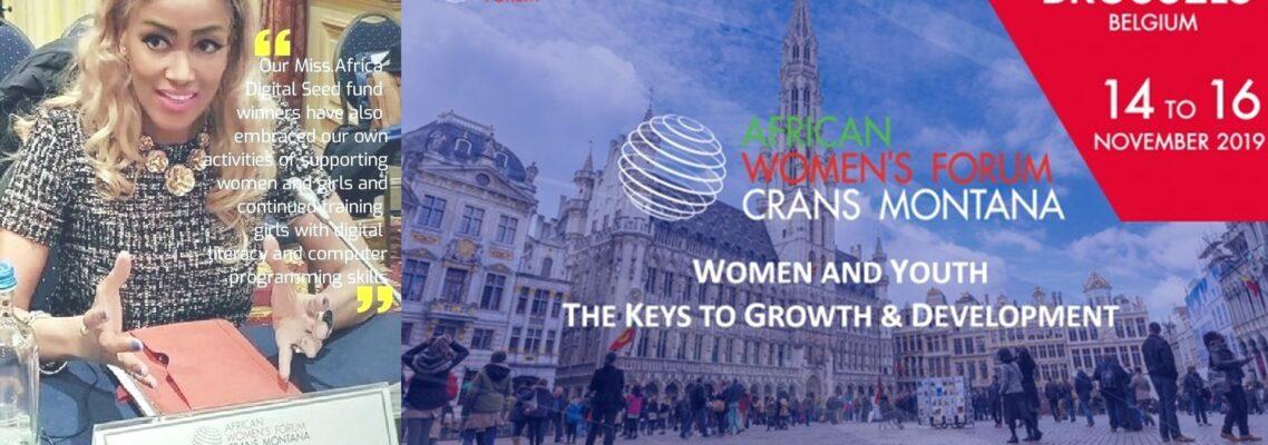 Sophia Bekele Speaks at the Crans Montana African Women's Forum - Brussels
